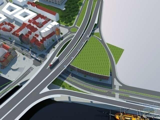 Wizualizacja ilustrująca pomysł z marca 2013 roku. Wówczas pomysł na budowę parkingowca obok TZ przedstawił Maciej Sochanowski, projektant drogowy
