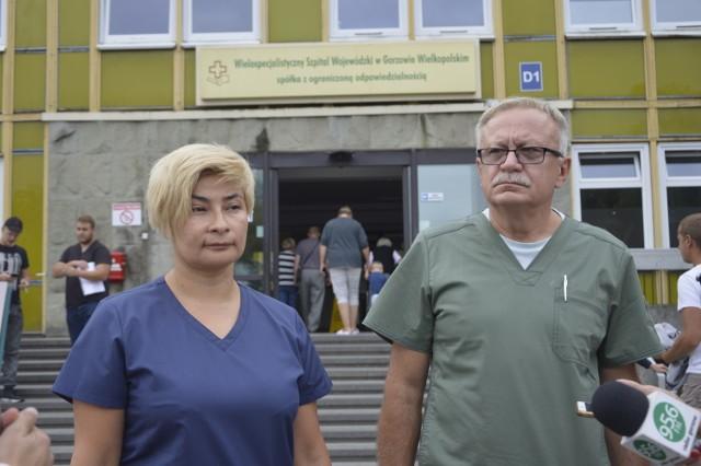 Podczas konferencji z dziennikarzami spotkali się: Sybilla Brzozowska-Mańkowska, która kieruje Szpitalnym Oddziałem Ratunkowym oraz zastępca dyrektora ds. lecznictwa Andrzej Kaczmarek