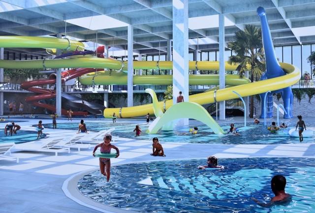 Aquapark przy ul. Oleskiej w Opolu - wizualizacja