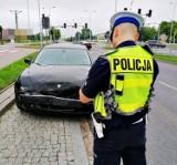 Wypadek na ulicy Reja w Suwałkach. Droga zablokowana