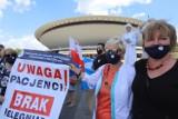 Katowice: Strajk pielęgniarek i położnych. Chcą wyższych i sprawiedliwych wynagrodzeń