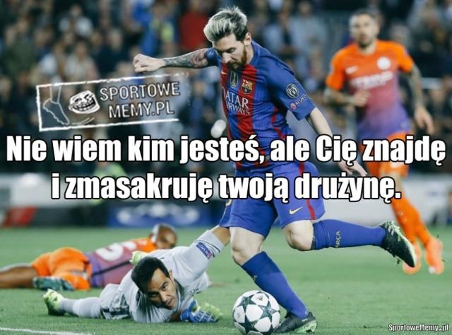 Barcelona masakruje Manchester City. Cztery bramki i hat-trick Messiego [MEMY]
