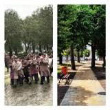 Park przy farze w Złoczewie wczoraj i dziś. Jak się zmieniło to miejsce? ZDJĘCIA