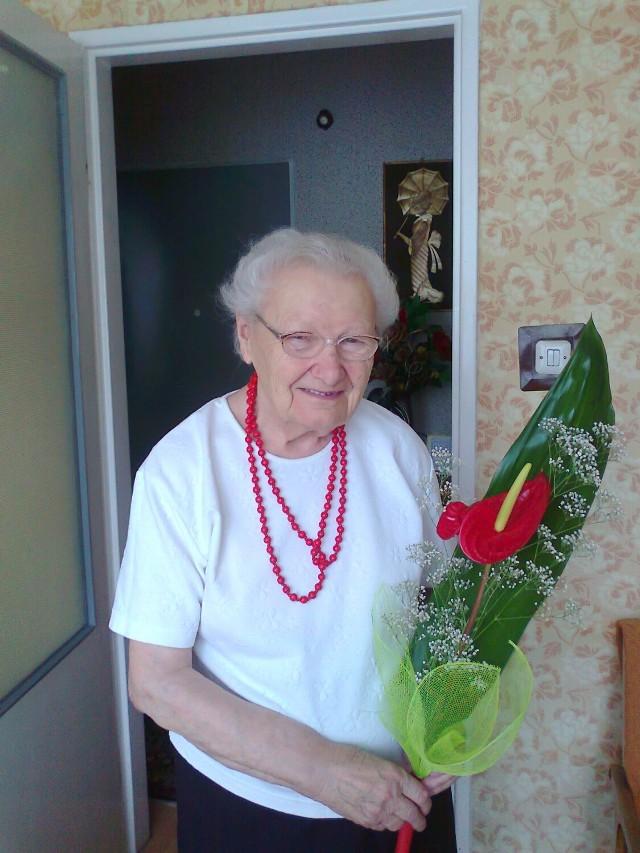 Wanda Brudzińska z Włocławka 17 lipca obchodził setne urodziny