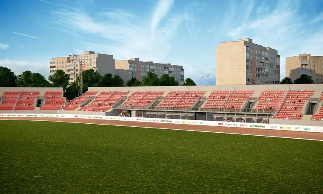 Przebudowa stadionu Polonii rozpoczęła się w lutym 2019 roku. Wówczas rozebrano stare trybuny i maszty oświetleniowe. Robotnicy uporali się już z fundamentami i żelbetonową konstrukcją. Teraz trwa budowa ścian i filarów, a do tego wykonywane są instalacje elektryczne i sanitarne.