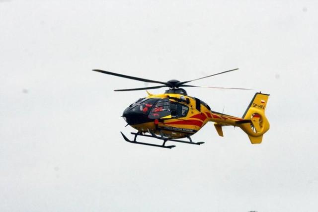 Do wypadku w Kieleczkach zadysponowano śmigłowiec LPR
