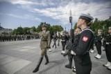 Pożegnanie dowódcy garnizonu z udziałem władz Sieradza - ZDJĘCIA