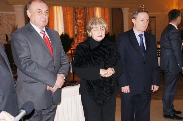Wiceprezes Włodzimierz Bas (z lewej) złożył rezygnację. Przechodzi na emeryturę