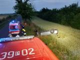 Wypadek w Damasławku. Dachował samochód osobowy!