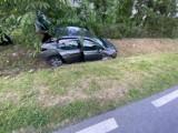 Wypadek w Ludomach! Kierowca zasnął w trakcie prowadzenia pojazdu