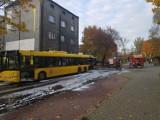 Pożar autobusu linii 48 w Katowicach. Jechało nim dziewięć osób