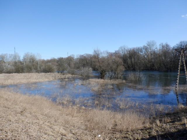 Brda na ujściowym odcinku między bydgoskim jazem Czersko Polskie a Wisłą. Woda zalała całą dolinę