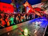 Niezwykła gra światła i kolorów na Festiwalu Skyway w Toruniu [zobacz zdjęcia]