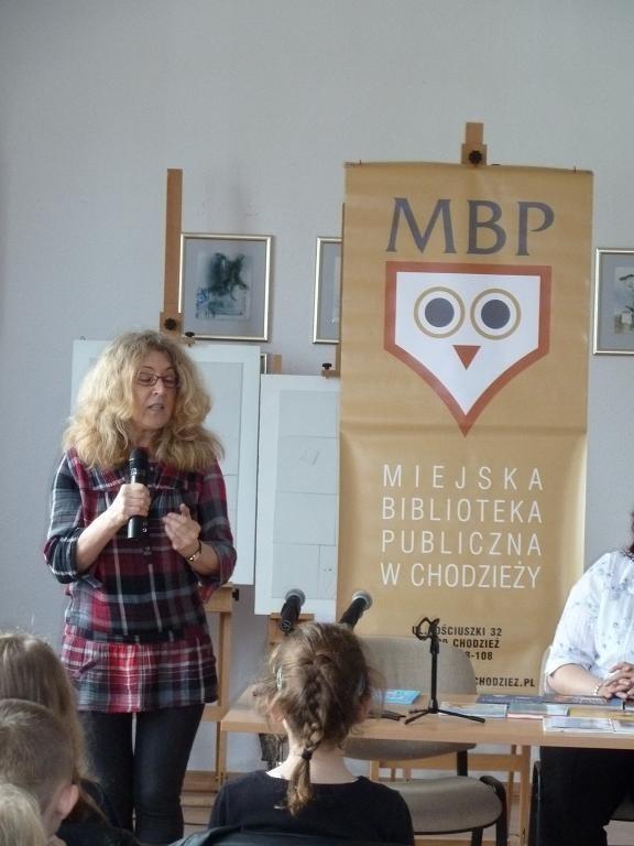 Anna Onichimowska przyjechała do naszego miasta na zaproszenie Miejskiej Biblioteki Publicznej
