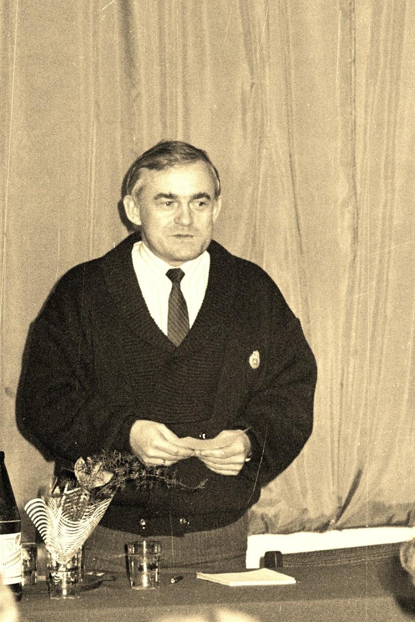 Wizyta Leszka Millera w Krośnie Odrzańskim (1991 roku).