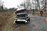 Zderzenie czołowe dwóch samochodów osobowych pod Bydgoszczą