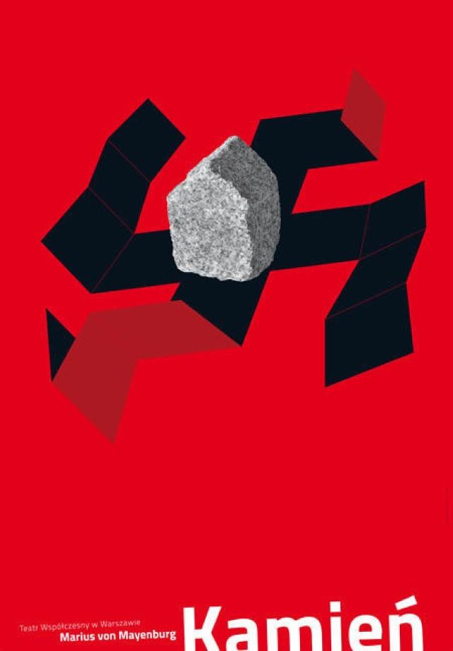 Plakat do spektaklu zaprojektował Mirosław Adamczyk.