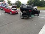 Wypadek na DK3 w Polkowicach. O włos od tragedii [ZDJĘCIA]