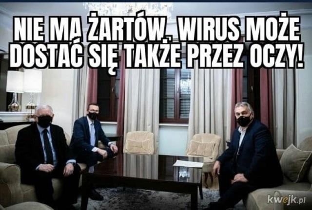 Jarosław Kaczyński w maseczce. Tak ją trzeba nosić? Zobacz memy internautów