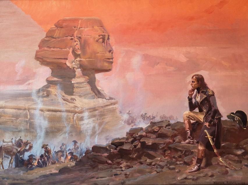 Wojciech Kossak, Napoleon patrzący na Sfinksa, 1901 r.Na...