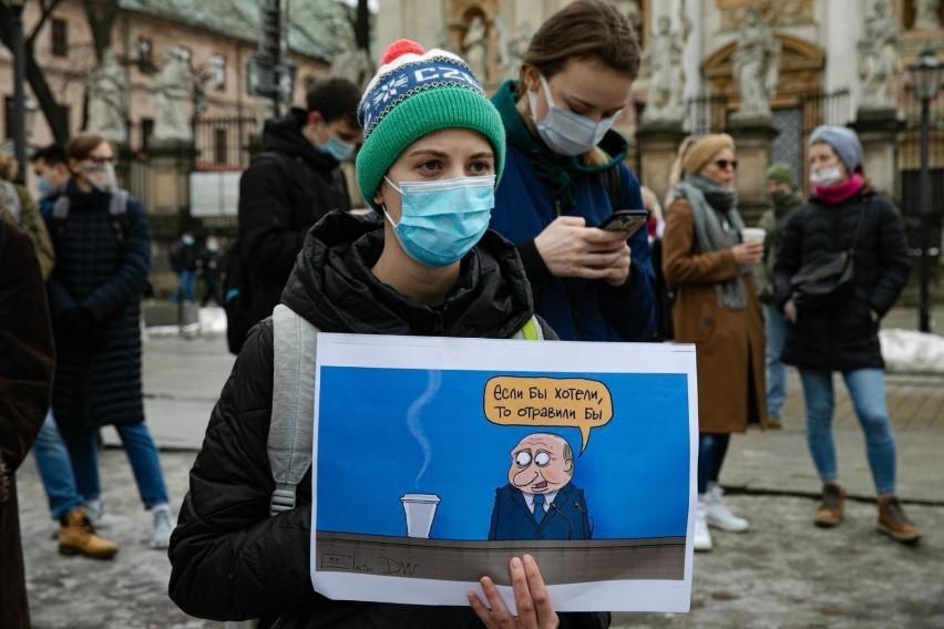Demonstracja w sprawie rosyjskiego opozycjonisty