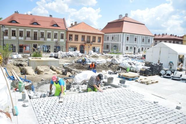 Rynek w Bochni w trakcie przebudowy