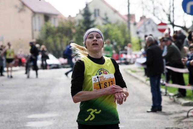 Bieg Bitwy pod Legnicą , na zdjęciu Anna Ficner