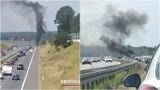 Pechowy dzień na autostradzie A4. Między Tarnowem i Bochnią dwa razy płonęły samochody [ZDJĘCIA]