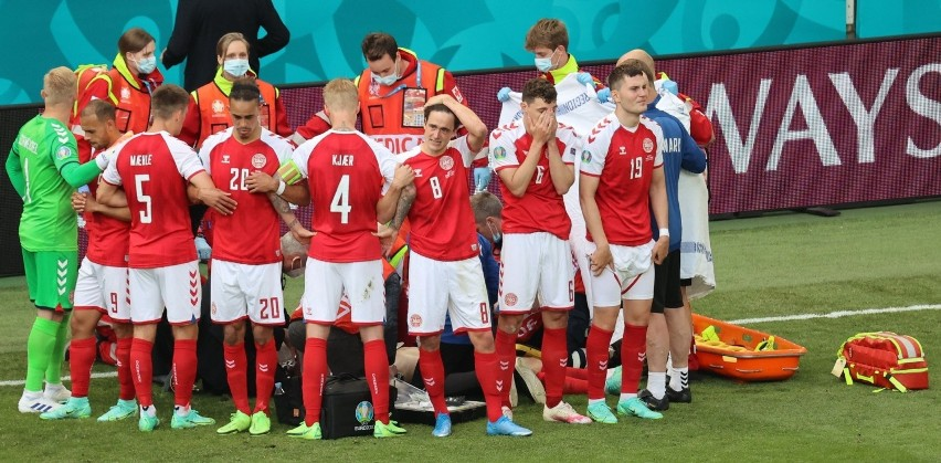 Mecz Dania - Finlandia przerwany! Christian Eriksen był...