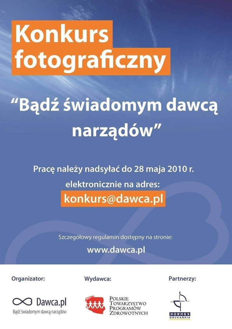 Bądź świadomym Dawcą Narządów Konkurs Fotograficzny