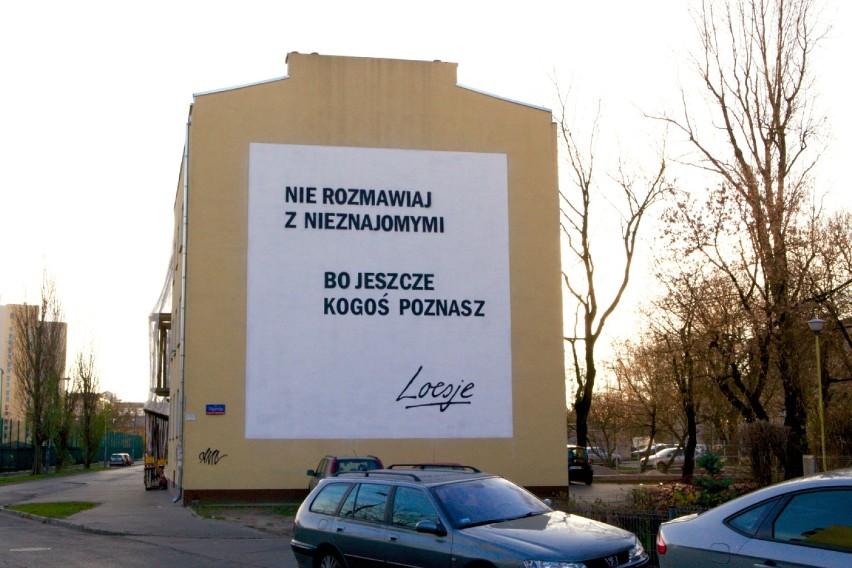 Murale Loesje Warszawa Kolejne Teksty Z Przesłaniem Na