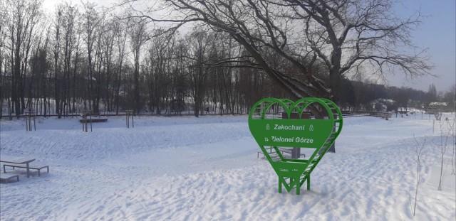 Tak ma wyglądać serce, które jeszcze przed walentynkami stanie w Dolinie Gęśnika. Wizualizacja Urzędu Miasta Zielona Góra.