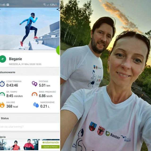Zdjęcia nadesłane przez biegaczy, uczestników wirtualnego biegu