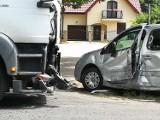 Zderzenie samochodu osobowego z ciężarowym w Złotorii [ZDJĘCIA]