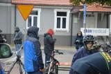 W strugach deszczu, ale odbył się Rowerowy Rajd Jesieni w Skierniewicach [Zdjęcia]
