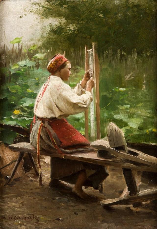 Apoloniusz Kędzierski, Prządka, ok. 1900, ze zbiorów Muzeum Narodowego w Krakowie.jpg