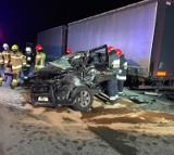 Wypadek na drodze ekspresowej S8 koło węzła Róża ZDJĘCIA