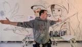 Podopieczni Domu Dziecka wspólnie uczcili setną rocznicą odzyskania Niepodległości malując z Looney'em