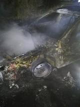 W Mileszewach w gminie Jabłonowo Pomorskie spłonął samochód. Zobaczcie zdjęcia
