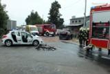 Groźne zderzenie trzech samochodów w Kamyku