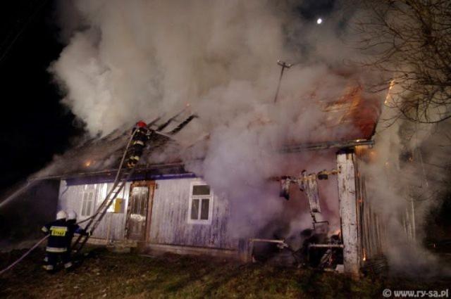 Pożar w Humniskach. Spłonął dom