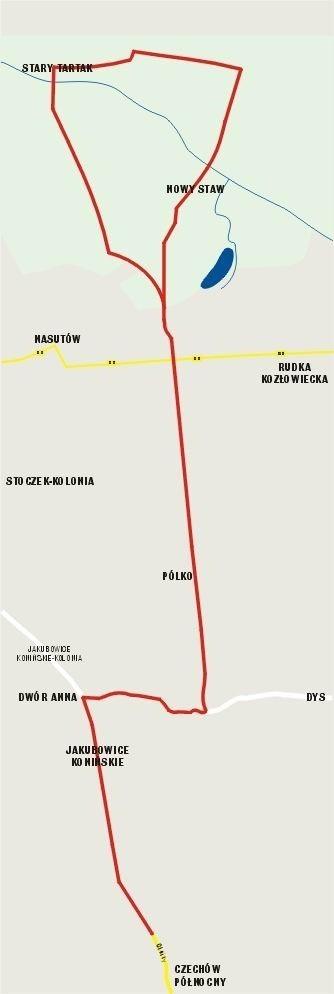 Trasa rowerowa z Lublina do Kozłówki