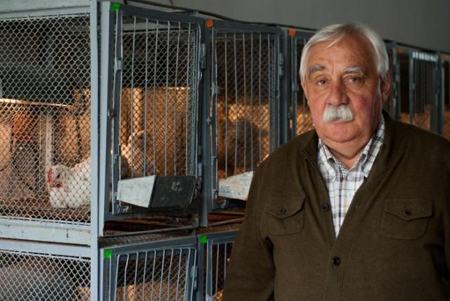 Prof. Andrzej Rutkowski sprawdza osiągnięcia swojego zespołu na zwierzętach.