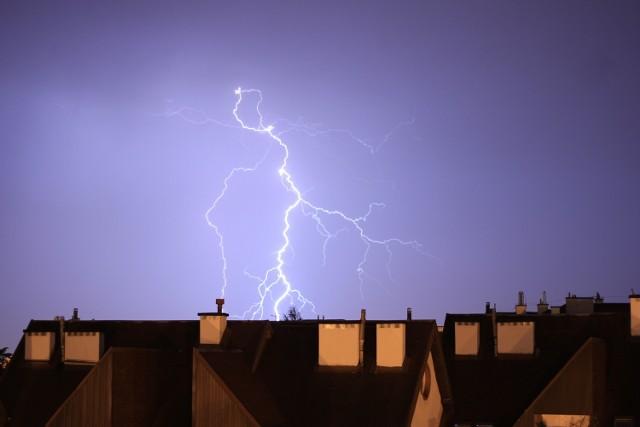 Zdjęcie z niedzielnej burzy nad Lublinem