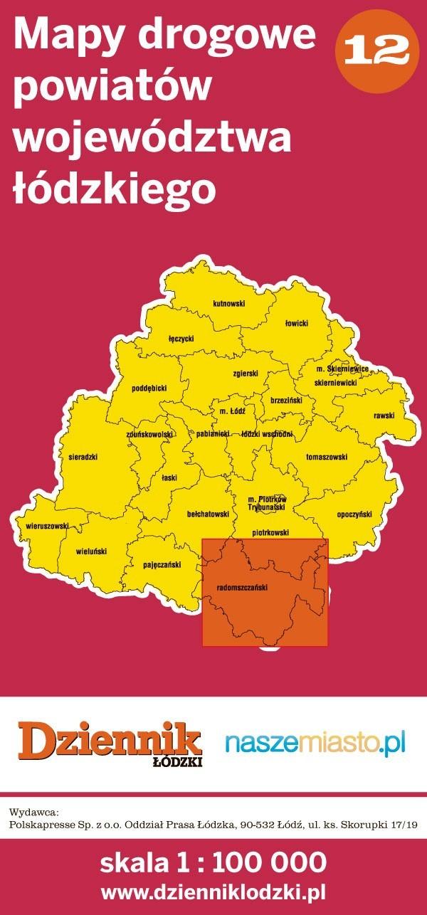 Mapa drogowa powiatu radomszczańskiego dodawana jest do każdego wydania Dziennika Łódzkiego w czwartek, 22 grudnia.