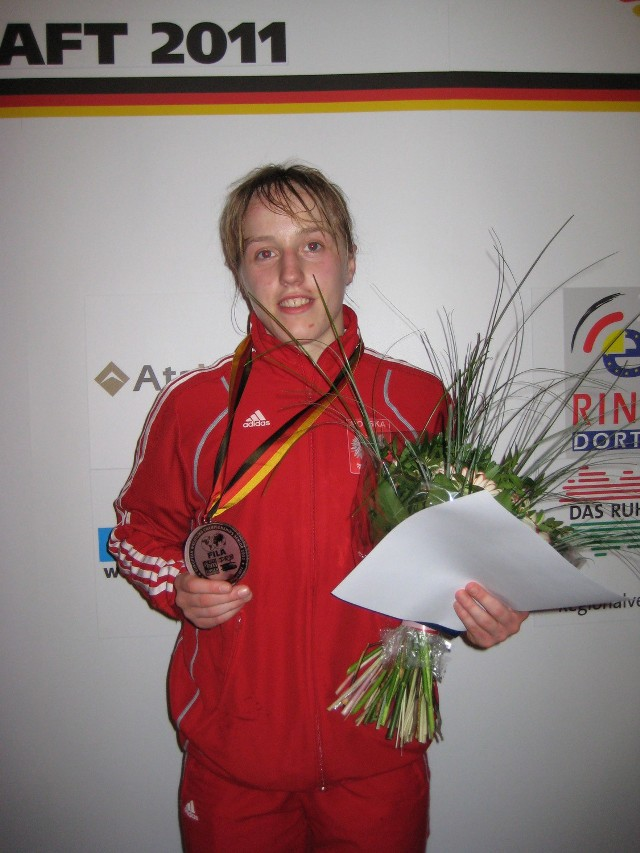 Katarzyna Krawczyk (Cement Gryf Chełm) zdobyła w ubiegłym roku brązowy medal ME seniorek