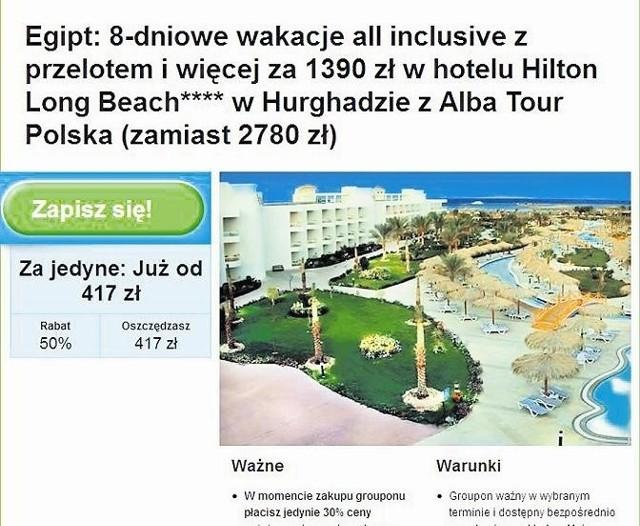 Jeszcze w piątek rano ogłoszenie z atrakcyjnym wyjazdem  Alba Tour było w internecie