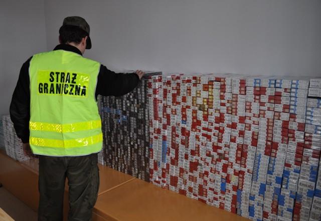 Kobylany: Straż graniczna przechwyciła kontrabandę