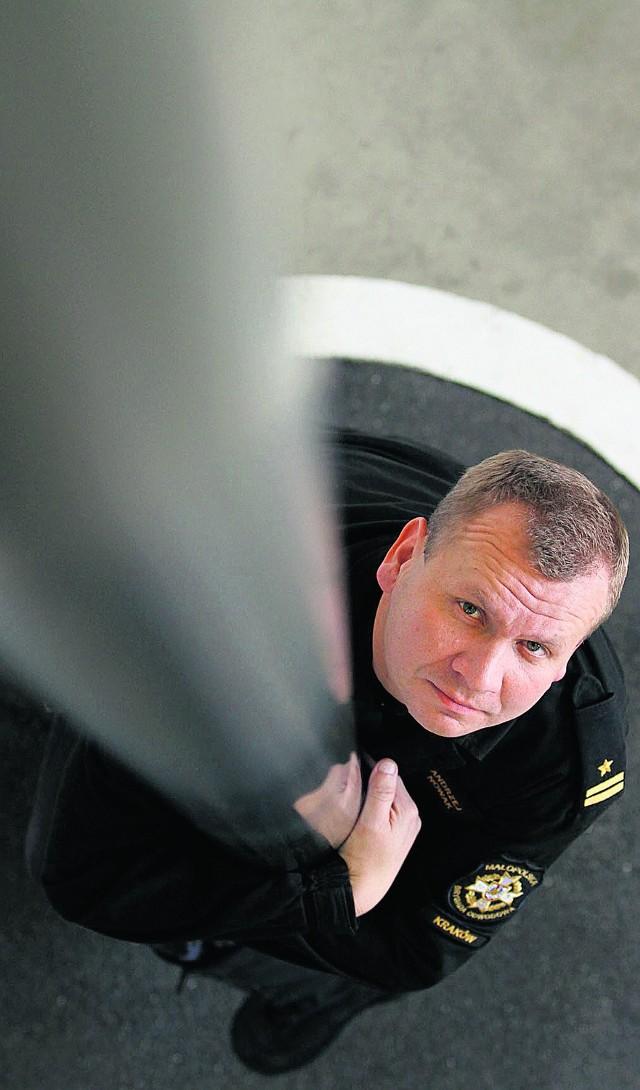 Andrzej Nowak, szef Jednostki Ratowniczo-Gaśniczej  nr 7