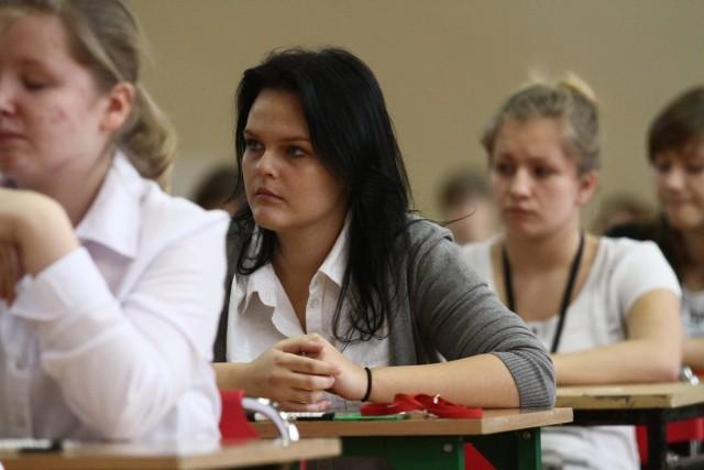 Po 10:00 w środę zakończyła się pierwsza część próbnego egzaminu gimnazjalnego. Gimnazjum nr 34 w Łodzi.